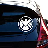 Agents of Shield Decal Sticker for Car Window, Laptop, Motorcycle, Walls, Mirror and More. # 514 (4', White)