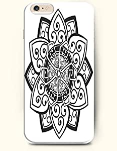 SevenArc Apple iPhone 6 Plus 5.5' 5.5 Inches Case Moroccan Pattern ( Black and White Floral Doodle )