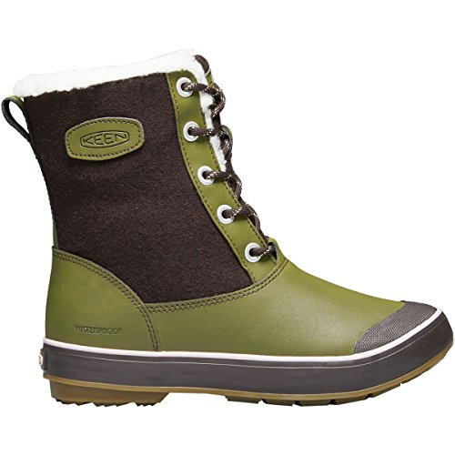 KEEN Women's Elsa Wp-w Snow Boot, Avocado, 8 M US by KEEN