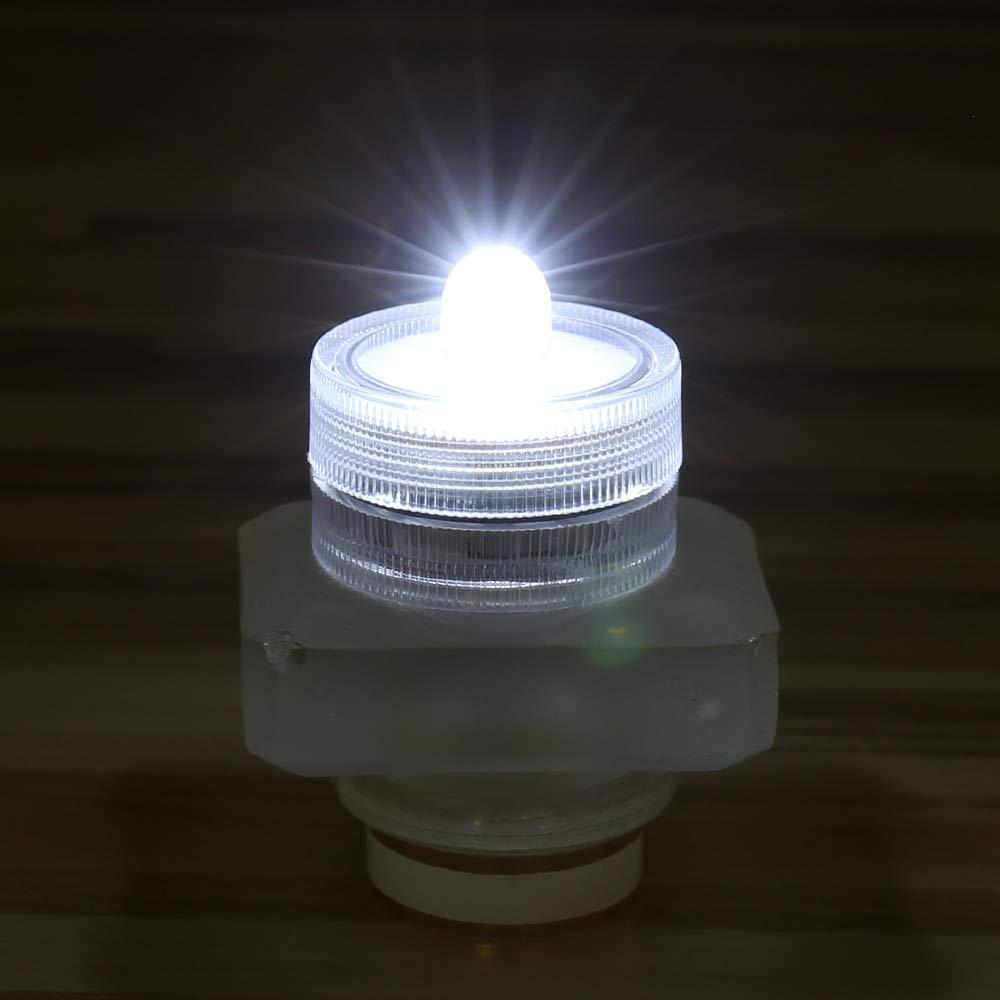 White JINHEZO JINHEZO-J0001 Waterproof Wedding Underwater Battery Sub Seasonal /& Festival Celebration Flameless LED Tea Light 36 Pack