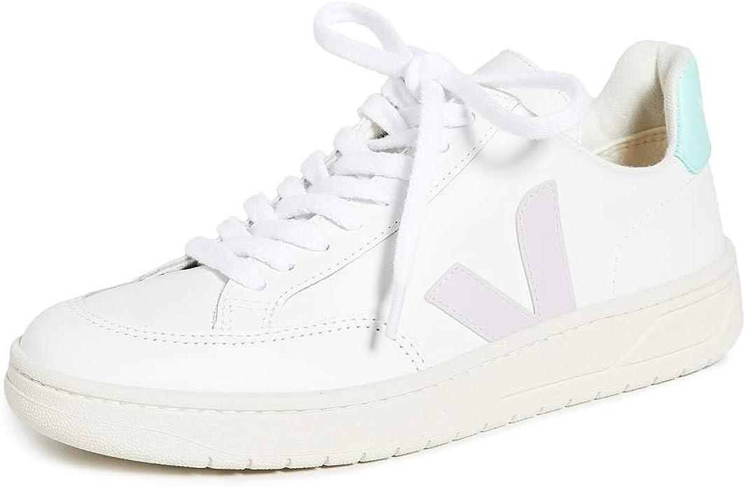 club Nueve estimular  Veja Zapatillas V-12 para mujer, blanco (Extra blanco/Parme/Turquesa), 34  EU: Amazon.es: Zapatos y complementos
