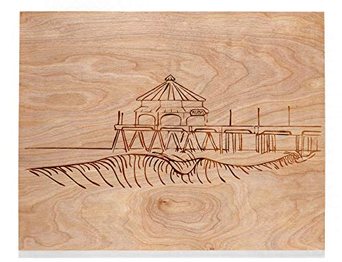 - CARVT Surf Art - Simple Ocean Waves Engraved into Wood - 11