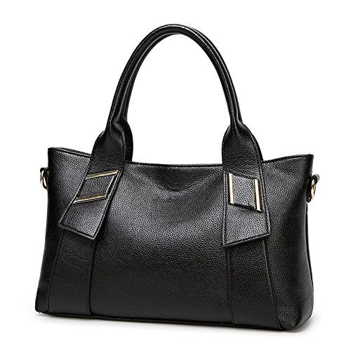 Cross Fashion Handbag diagonal Penao Shoulder dimensioni Lady 36cmx12cmx22cm Pack nere Pdqwwt