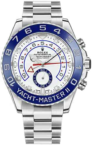 New Rolex Yacht-Master II White Dial Oystersteel Men's Luxury Watch 116680