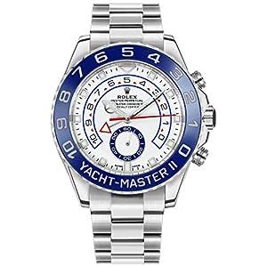 Best Epic Trends 51cu39BzXeL._SS300_ New Rolex Yacht-Master II White Dial Oystersteel Men's Luxury Watch 116680