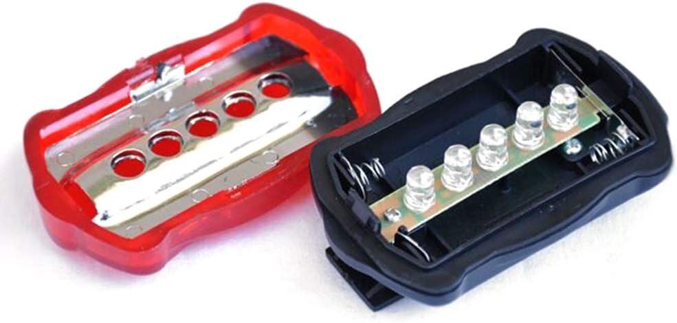 impermeabile luce posteriore Fanale posteriore a 5 LED per bicicletta super luminoso CoURTerzsl