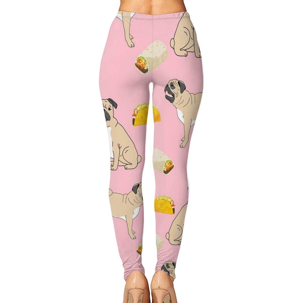 Amazon.com : Xayeu Pugs Dog Tacos Food Yoga Pants for Women ...