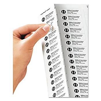 """Avery Clear Easy Peel Return Address Labels For Laser Printers 23"""" X 1-34"""", Pack Of 600 (15695) 1"""