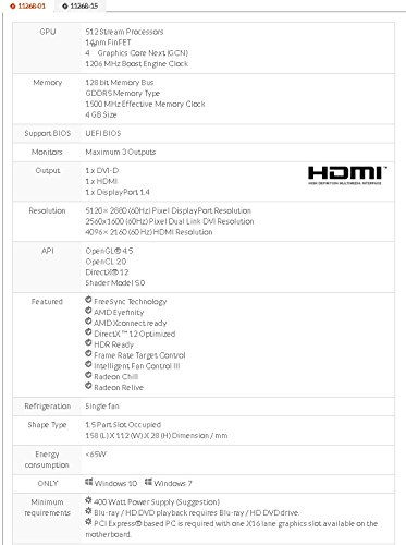 Sapphire Radeon PULSE RX 550 4GB GDDR5 HDMI / DVI-D / DP (UEFI) PCI-E Graphics Card 11268-01-20G by Sapphire Technology (Image #6)