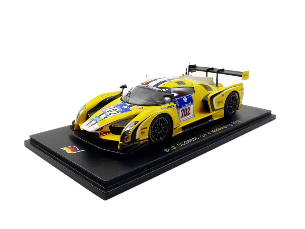 Yellow Spark SCG SCG003 Model Car 24 H Nurburgring 2016 1 43 Scale