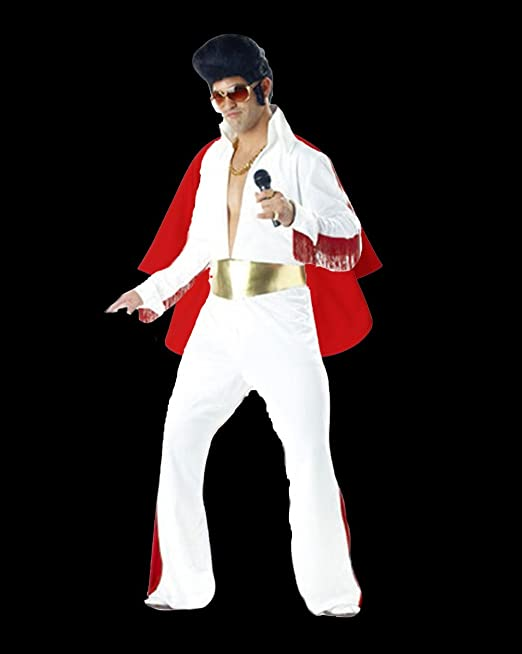 Elvis Traje King Of Rock n Roll Disfraz: Amazon.es: Juguetes y ...