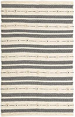 Alfombra de algodón Beige de salón étnica para Comedor de 140x200 cm Vitta - LOLAhome: Amazon.es: Hogar