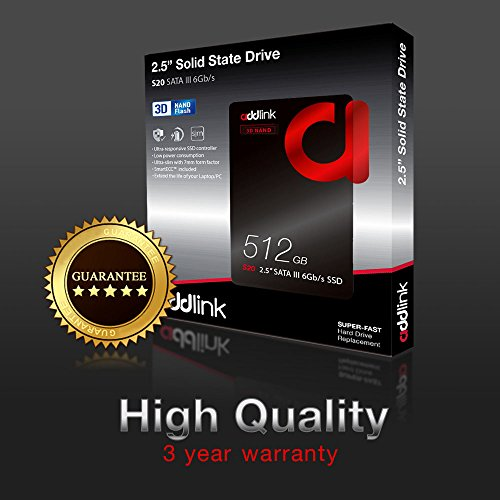 addlink S20 3D NAND SSD 512GB SATA III 6Gb/s 2.5-inch/7mm Internal Solid State Drive with Read 550MB/s Write 500MB/s (3D NAND 512GB) by addlink (Image #6)