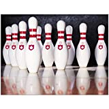 """40"""" x 50"""" Blanket Comfort Thin Soft Plush Throw Bowling Reflections Smooth White"""