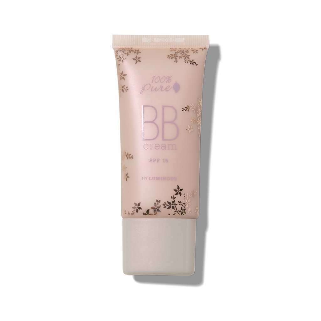 100% Pure All Natural Organic Glowing Flawless Complexion BB Cream, Shade 10 Luminous, 1 Ounce