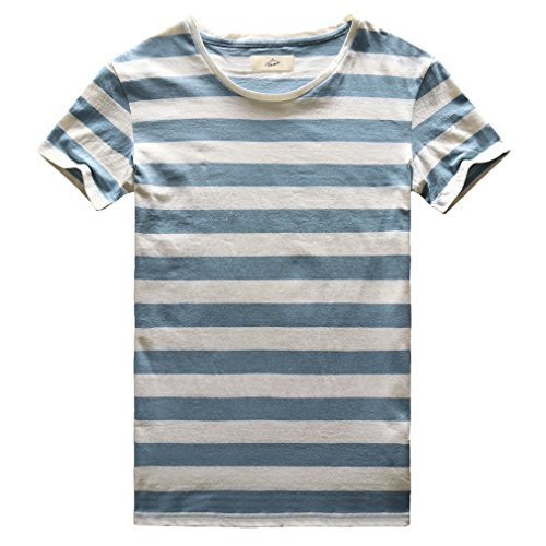 Sailor Stripe Pattern (Zecmos Men's Striped T-Shirt Short Sleeve Slim Fit Casual Stripes T Shirt Blue M)