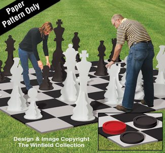 - Winfield Collection Woodworking Plan for a Large Yard Chess & Checkers