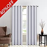 MEROUS Solid Blackout Curtain Thermal Insulated Window Treatments/Drapes with Grommet for Bedroom and Living Room(2 Panels,52*63 inch,Silver Grey)