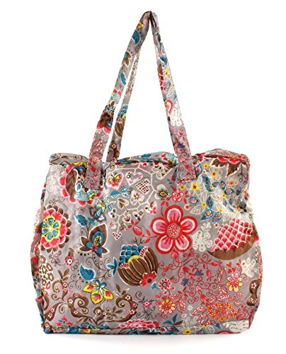2002 à Cherry Sac Painted femme shopper main Flowers Gris OCB0117 Folding Oilily Y78TF