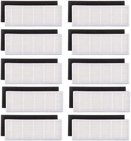 SODIAL 20pzs / Lote Filtro HEPA y filtros de Esponja Repuestos para ilife A4s A6 A4 A40 Filtro de Limpieza de Polvo Accesorios para aspiradoras: Amazon.es: Hogar