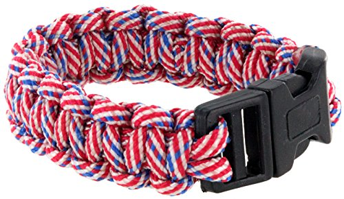 [USA-colored Paracord Bracelet Patriot Pride Wristband -The Sprit of a Nation (Red)] (United Nations Costumes For Women)