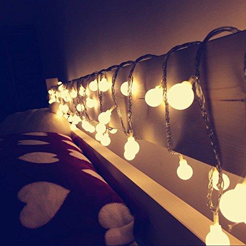 Outside Fairy Lights B Q: Led String Light, Arespark Ball Fairy Light, 33Feet 100