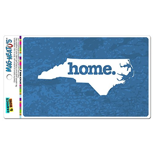 - Graphics and More North Carolina NC Home State Car Vinyl Magnet - Textured Denim Blue