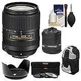 Nikon 18-300mm f/3.5-6.3G VR DX ED AF-S Nikkor-Zoom Lens with Backpack + 3 UV/CPL/ND8 Filters + Hood + Accessory Kit