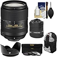 Nikon 18-300mm f/3.5-6.3G VR DX ED AF-S Nikkor-Zoom Lens with Backpack + 3 UV/CPL/ND8 Filters + Hood + Accessory Kit