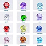 Feilaiger 60Pcs Round 5mm Crystal Birthstones Charms for Floating Charm Living Memory Lockets Pendants