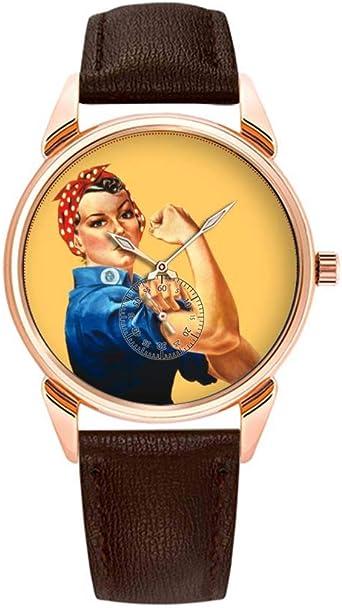 Fashion Waterproof Watch Minimalist Personality Pattern Watch - 351.Rosie The Riveter Watch