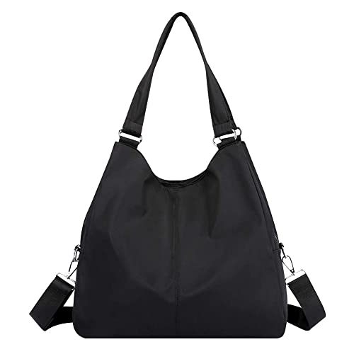 dd360858c328 LQZ Multi-function Nylon Women Hobo Bag Removable Strap Sling Shoulder Bag  Travel Organzier Handbag