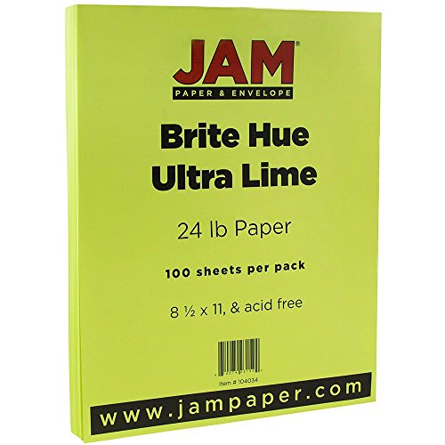 jam-paper-bright-color-paper-85-x-11-24-lb-brite-hue-ultra-lime-green-100-pack