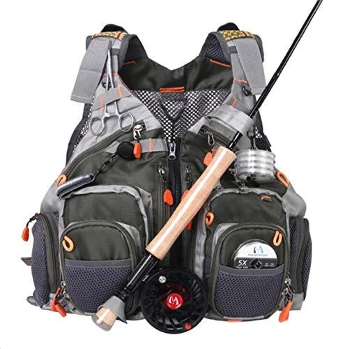 M MAXIMUMCATCH Maxcatch Fly Fishing Vest Mesh Vest Free Size