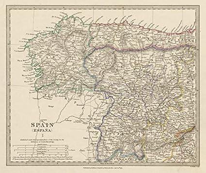 Map Of Spain Leon.Amazon Com Spain Nw Galicia Leon Asturias Zamora Palencia Toro