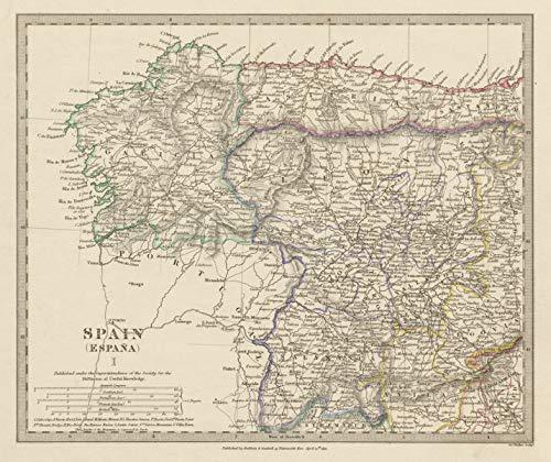 Map Of Spain Zamora.Amazon Com Spain Nw Galicia Leon Asturias Zamora Palencia Toro