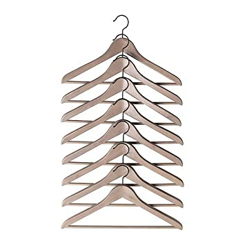 Ikea Kleiderbügel ikea holzkleiderbügel bumerang grau braun 8 er pack bügel aus