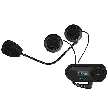 FreedConn Moto Motociclista Casco Bluetooth TCOM-SC Intercom Interfono Inalambrico Intercomunicador Equitación Esquí (Pantalla