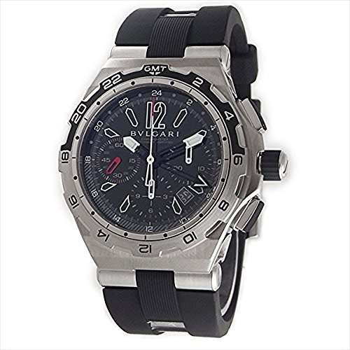 Bvlgari Diagono X Pro Black Dial Chronograph Automatic Mens Watch DP45BSTVDCH-GMT
