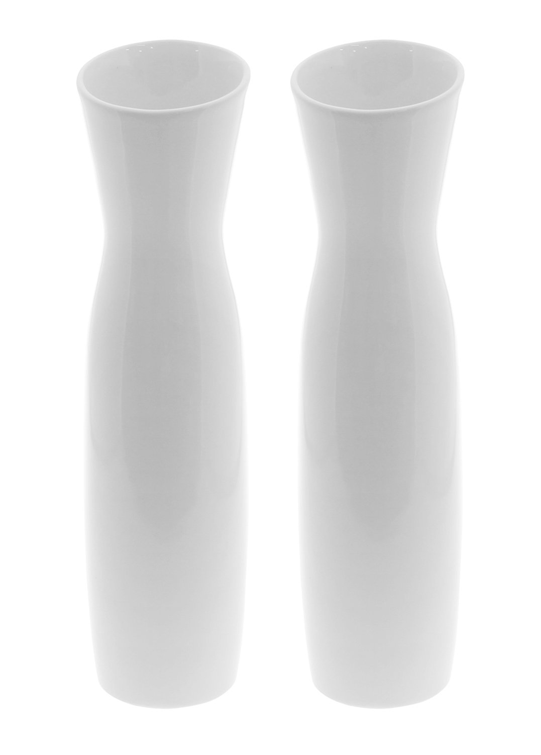 "JustNile 11.8 "" Tall Modern Elegant Looking Decorative Vases Ideal For Wedding Parties Receptions Centerpiece, Front Porch Living Room Kitchen Home Décor - Set of 2, White - [ Elegant, Minimalist Tulip Looking Vase ] - Classic, modern simplistic design, the flower petal opening makes this set easy to use and a great presentation to be displayed on your tabletop. [ Smooth, Clean Finish ] - To distinct from the ordinary vases on the market, we've made these elegant, smoothly finished vases for you to decorate your beloved bouquet or a single rose for your beloved ones. [ Quality Purchase For the Perfect Quantity ] - With this purchase, you do not only get one, but TWO identical modern, classic smoothly made vases. It's always nice to have a pair of vases for your home décor. - vases, kitchen-dining-room-decor, kitchen-dining-room - 51cu7NwSmWL -"
