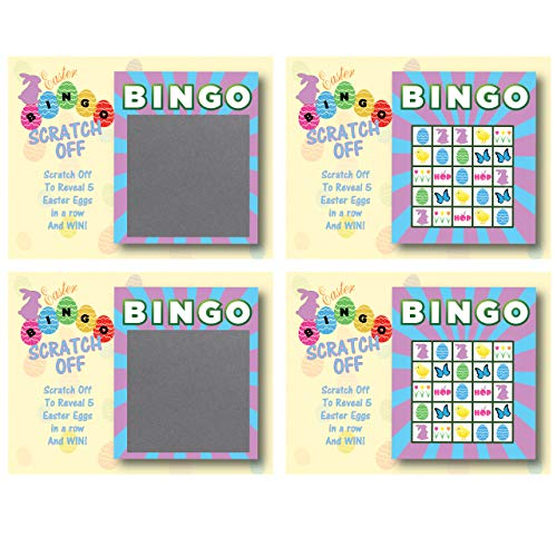 My Scratch Offs - Easter Basket Scratch-Off Bingo Cards, Family/Party Casino Games, Set of 26 ()