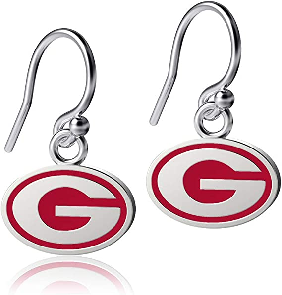 Sterling Silver Jewelry Small for Women//Girls Bulldogs G Logo Dayna Designs University of Georgia State Outline Necklace