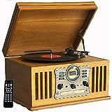 Shuman Nostalgic Wooden 7 In 1 Bluetooth Music Centre Amazoncouk