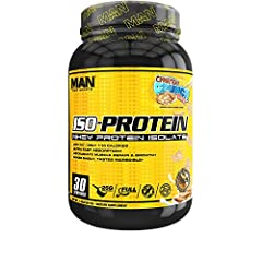 ISO-PROTEIN contains 25 grams of super-premium Whey Protein Isolate in an instant zed powder for easy mix ability with OUT OF THIS WORLD TASTE! Only the highest quality cold processed, micro filtered Isolate Protein is used providing 25g prot...