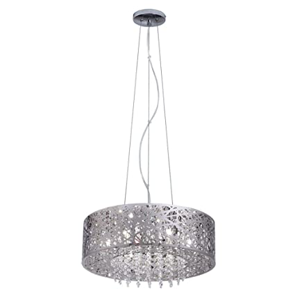 Home decorators collection 7 light mirrored stainless steel pendant