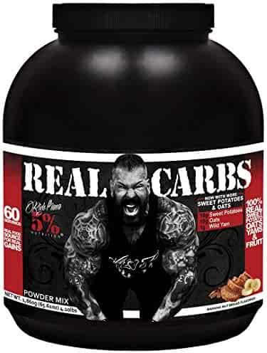 Rich Piana 5% Nutrition Real Carbs (Banana Nut Bread) 63.49oz (1,800 Grams) 60 Servings