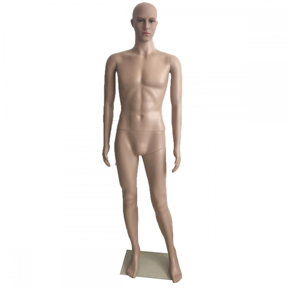 Male Full Body Realistic Mannequin Display Head Turns Dress Form wBase FDW