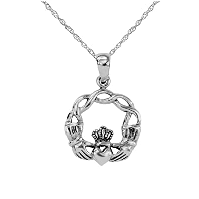 Sterling Silver Traditional Celtic Irish Claddagh Love Loyalty And