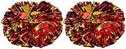 Cheerleader Pom Poms, 1 Pair 8 Colors Quality Plastic Cheerleader Aerobics Hand Flower Ball for Games School S