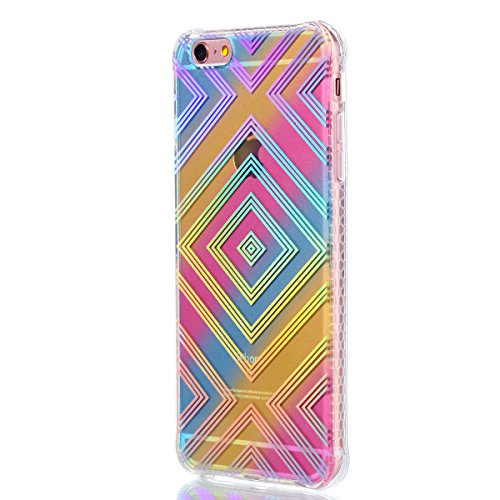 Apple iPhone 6/6S 4.7 Coque, Voguecase TPU avec Absorption de Choc, Etui Silicone Souple Transparent, Légère / Ajustement Parfait Coque Shell Housse Cover pour Apple iPhone 6/6S 4.7 (Placage colorés-R